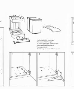 Afvalemmer Hailo Solo-automatic 20 liter 3634-10 deurmeenemer-review