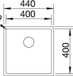Spoelbak Blanco Claron 400 521573 onderbouw InFino-review