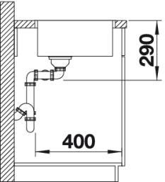 Blanco spoelbak Andano 400/400-IF vlakinbouw 522985 InFino-review