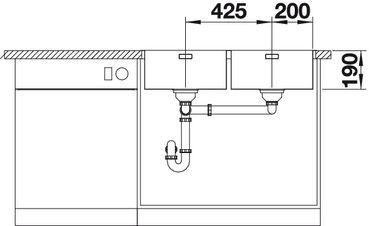 Blanco spoelbak Andano 400/400-IF vlakinbouw 522985 InFino-kopen