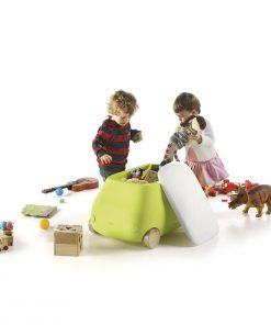 Opbergbox auto design kinderkamer / woonkamer Plust Mini Van Geel-kopen