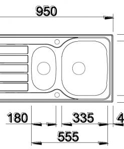 Blanco opbouw spoelbak 520295 Lanis 6 S Basic-review