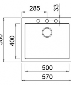 Elleci Quadra 105 opbouw spoelbak - Granitek zwart-review