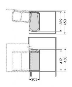 Afvalemmer Hailo Duo-Automatic 16 liter 3416-00 wit-kopen