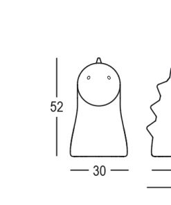 Kunststof draak kinder- en woonkamer inrichting Plust Rood 52cm hoog-review