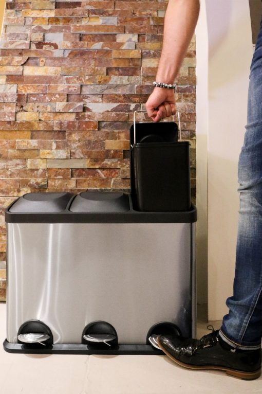 Afvalemmer/ pedaalemmer Coninx Steeldesign Trio + 45 liter-review