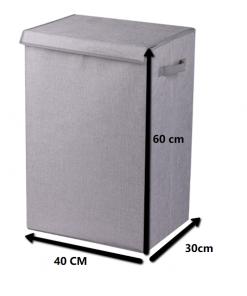 Wasmand stof Escara opvouwbaar met deksel Venezia 71 Liter-kopen