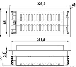 Evoline Backflip stopcontact met USB lader. Wit matglas. Belgische aarding-kopen