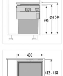 Afvalemmer Hailo Cargo Synchro 3608-46 - 55liter-review