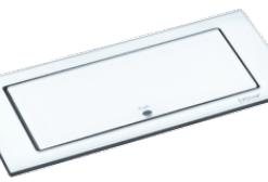 Evoline Backflip stopcontact met USB lader. Wit matglas. Belgische aarding