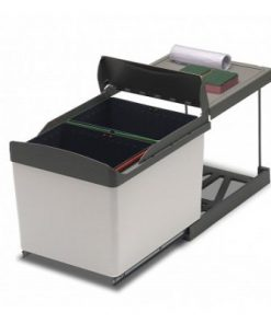 Lavanto bio afvalemmer 32 liter. Met deurmeenemer. RVS-review