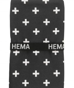 HEMA Handdoek Microvezel 70 X 140 Cm (noir)