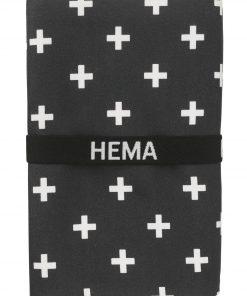 HEMA Handdoek Microvezel 110 X 175 Cm (noir)