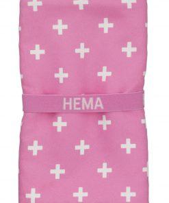 HEMA Handdoek Microvezel 70 X 140 Cm (rose)
