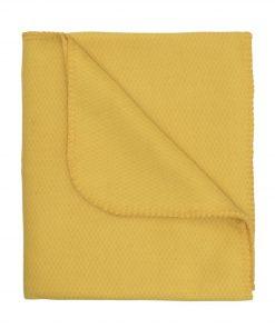 HEMA Fleece Plaid 130 X 150 Cm Geel