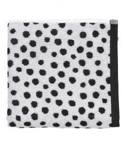HEMA Handdoek - 50 X 100 Cm - Zware Kwaliteit - Wit Zwart Stip (noir/blanc)