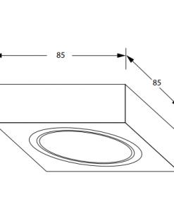 Keukenverlichting onderbouw Box met schakelaar led set van 4-kopen