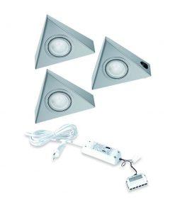 Keukenverlichting onderbouw Astra met schakelaar. Set van 3-kopen