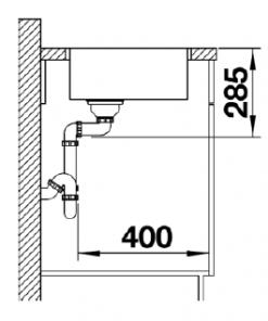 Blanco spoelbak Gonis 400-IFU inbouw/vlakbouw/onderbouw-kopen