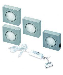 Keukenverlichting onderbouw Box met schakelaar led set van 4-review