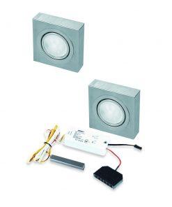 Opbouwspot Box LED Keuken onderbouw met touch dimmer . Set van 2-kopen