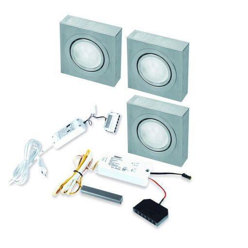 Opbouwspot Box LED Keuken onderbouw met touch dimmer . Set van 3-kopen