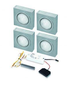 Opbouwspot Box LED Keuken onderbouw met touch dimmer . Set van 4-kopen