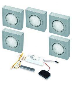 Opbouwspot Box LED Keuken onderbouw met touch dimmer . Set van 5-kopen