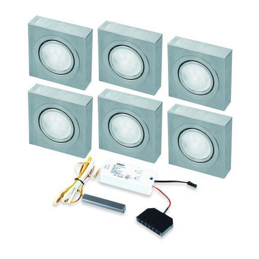 Opbouwspot Box LED Keuken onderbouw met touch dimmer . Set van 6-kopen
