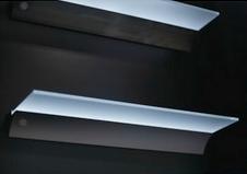 Glasschap met led verlichting. Neutraal wit met aluminium houder-kopen