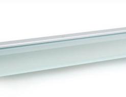 Glasschap met led verlichting. Neutraal wit met aluminium houder