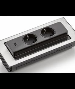 Evoline backflip USB stopcontact. Mat wit-kopen