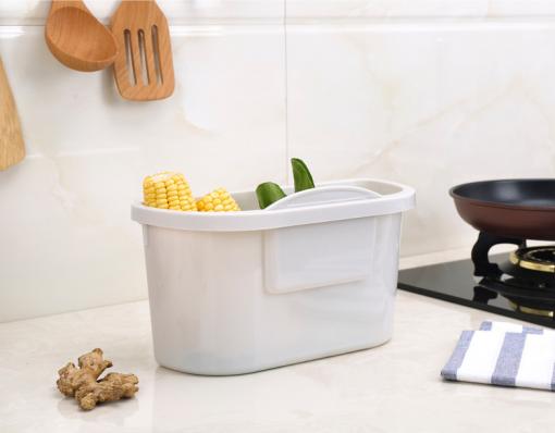 Coninx afvalemmer- opvangschaal voor keukenblad grijs-review