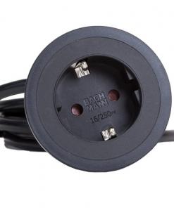 Pix inbouw stopcontact - wit/zwart/RVS look