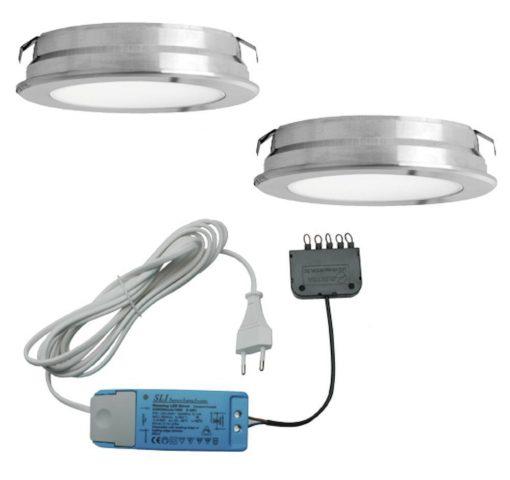 Keukenverlichting onderbouw Round . Set van 2-kopen