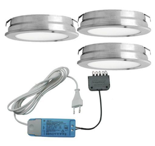 Keukenverlichting onderbouw Round. Set van 3-kopen