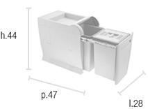 Inbouw afvalemmer Copa W-5000 24 liter BIO-kopen