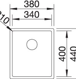 Spoelbak Blanco Claron 340-U Durinox 523384 onderbouw-review