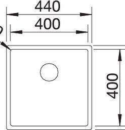 Spoelbak Blanco Claron 400-U Durinox 523385 onderbouw-kopen