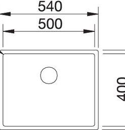 Spoelbak Blanco Claron 500-U Durinox 523386 onderbouw-kopen