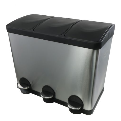 Afvalemmer/ pedaalemmer Coninx Steeldesign Trio + 45 liter