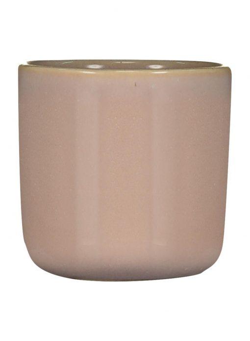 HEMA Bloempot - 6.5 X Ø 6 Cm - Reactief Glazuur - Roze (Pink)