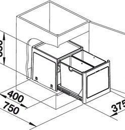 Inbouw afvalemmer BLANCO BOTTON Pro 45/2 517467-kopen