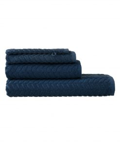 HEMA Handdoeken - Zware Kwaliteit - Zigzag Donkerblauw (donkerblauw)
