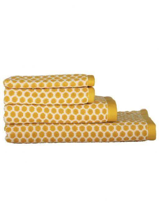 HEMA Handdoeken - Zware Kwaliteit - Gestipt Okergeel (okergeel)