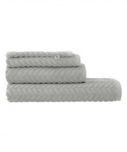 HEMA Handdoeken - Zware Kwaliteit - Zigzag Lichtgrijs (lichtgrijs)