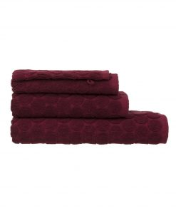 HEMA Handdoeken - Zware Kwaliteit - Gestipt Donkerrood (donkerrood)