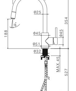 Keukenkraan Doeco 802 RVS/zwart-review