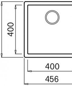 Mizzo Ambro 40-40 spoelbak onderbouw/opbouw - zwart-kopen