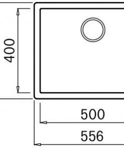 Mizzo Ambro 50-40 spoelbak onderbouw/opbouw - zwart-kopen